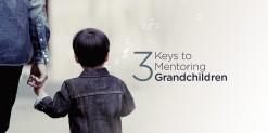 Boy holding grandparents hand